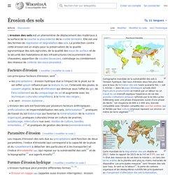 WIKIPEDIA - Erosion des sols.
