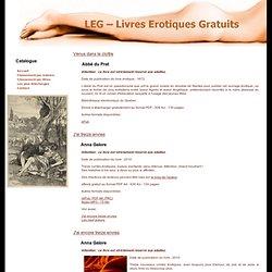 LEG - Livres érotiques gratuits - Téléchargements en formats PC, Mac ou eBooks