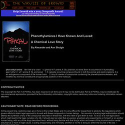 "Online Books : ""PIHKAL"" - The Chemical Story"