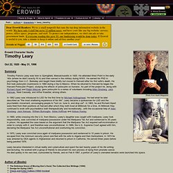 Timothy Leary Vault