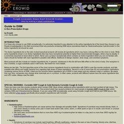 DXM Vault : Guide to DXM in Non-Prescription Drugs