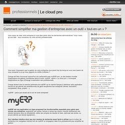my ERP l'application tout en un avec Le cloud pro d'Orange