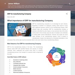 ERP for manufacturing Company