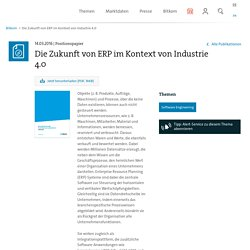 ERP im Kontext von Industrie 4.0