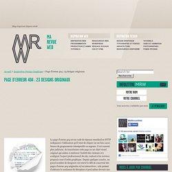 Page d'erreur 404 : 23 designs originaux