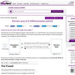 Erreur 404: Impact des erreurs 404 sur le référencement – SEO