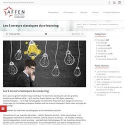 Les 5 erreurs classiques du e-learning