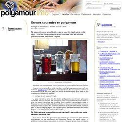 Erreurs courantes en polyamour - Polyamour.info