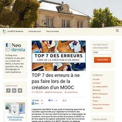 TOP 7 des erreurs à ne pas faire lors de la création d'un MOOC - Blog Neodemia