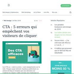 CTA : 5 erreurs qui empêchent vos visiteurs de cliquer