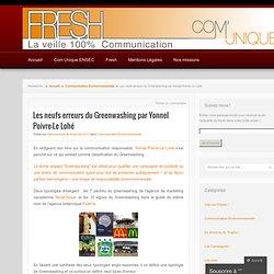 Les neufs erreurs du Greenwashing par Yonnel Poivre-Le Lohé