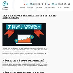 Les 7 erreurs Marketing à éviter au démarrage - MJ MEDIA