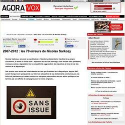 2007-2012 : les 70 erreurs de Nicolas Sarkozy