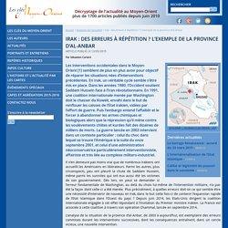 Irak : des erreurs à répétition ? L'exemple de la province d'al-Anbar