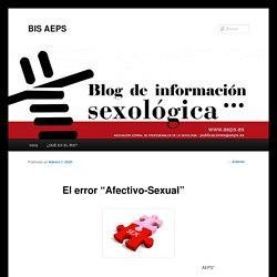 """El error """"Afectivo-Sexual"""""""