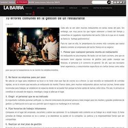 10 errores comunes en la gestión de un restaurante