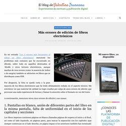 Más errores de edición de libros electrónicos