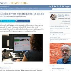 Els deu errors més freqüents en català