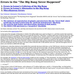 "Errors in the ""The Big Bang Never Happened"""