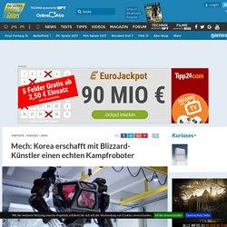 Mech: Korea erschafft mit Blizzard-Künstler einen echten Kampfroboter