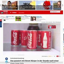 Erschreckende Auswirkung: Das passiert mit Ihrem Körper in der Stunde nach einer Dose Coca-Cola - Video - Video