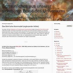 Das Bohr'sche Atommodell (ergänzender Artikel)