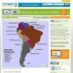 - Karte erstellt von ConradK - Landkarte für Südamerika