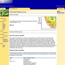 STI: ERsys - San Fernando, CA (USDA Plant Hardiness)