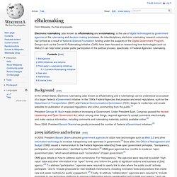 eRulemaking