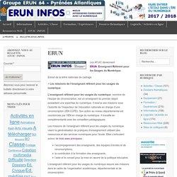 ERUN – Bulletin d'information ERUN 64