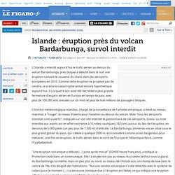 Islande : éruption près du volcan Bardarbunga, survol interdit