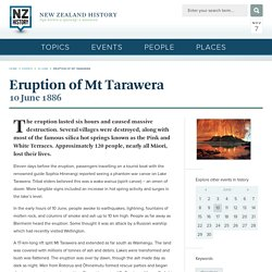 Eruption of Mt Tarawera