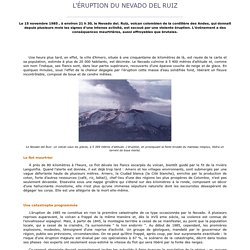 L' ruption du Nevado del Ruiz en 1985 - Alertes-meteo.com