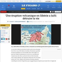 Eruption volcanique en Sibérie - 250 millions d'années