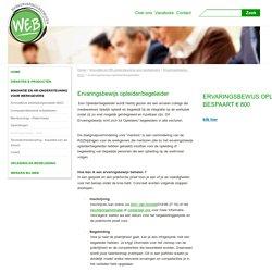 ervaringsbewijs opleider/begeleider - Webwerkt