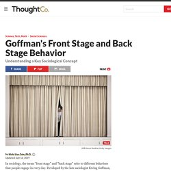 Erving Goffman's Front Stage and Back Stage Behavior