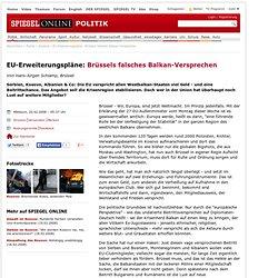 EU-Erweiterungspläne: Brüssels falsches Balkan-Versprechen - SPI