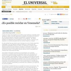 ¿Es posible reciclar en Venezuela?