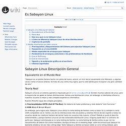 Es:Sabayon Linux - Sabayon Wiki