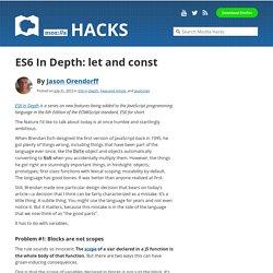 ES6 In Depth: let and const