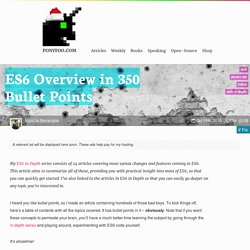 ES6 Overview in 350 Bullet Points