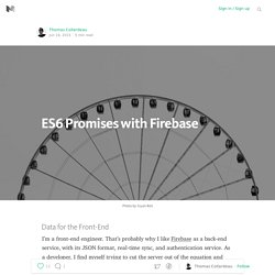 ES6 Promises with Firebase