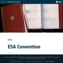 - ESA Convention