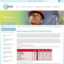 ESAA - Green energy: we like it, but we don't buy it.