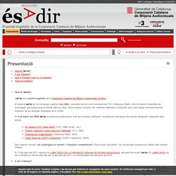 ésAdir > Presentació