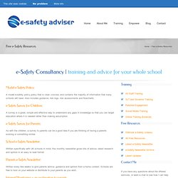 e-Safety - free resources for you to use