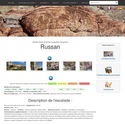 Site d'escalade Russan - info, topo, localisation...