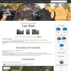 Site d'escalade Lez Steir - info, topo, localisation...