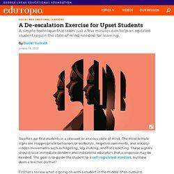 A De-escalation Exercise for Upset Students