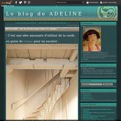 ESCALIER : de la corde pour faire la rampe - Le blog de ADELINE